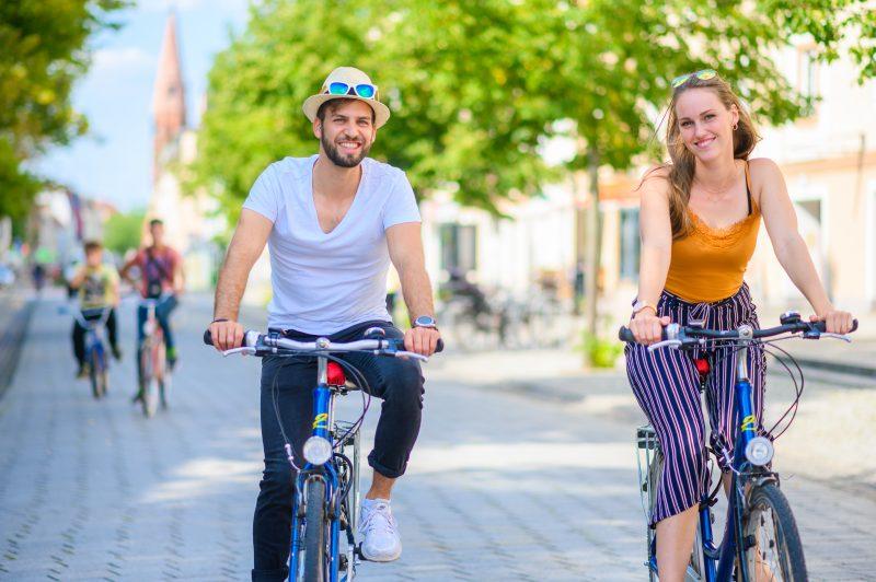 Dessau ist eine ideale Stadt zum Radfahren