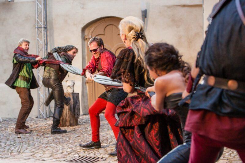 Theaterstück in der Wasserburg Roßlau