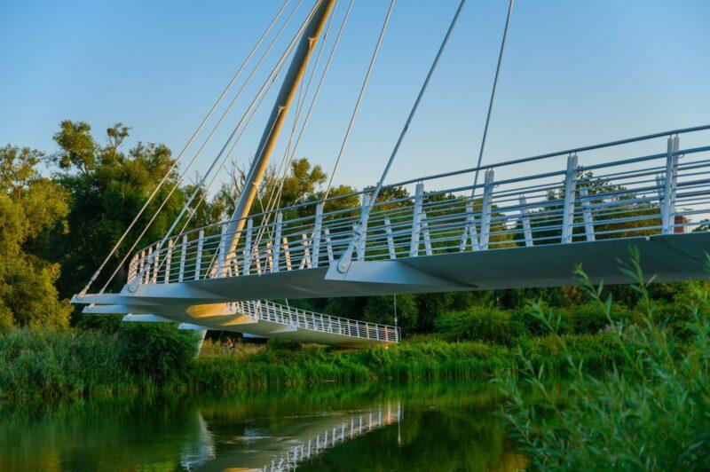 Brücke über Mulde in Dessau