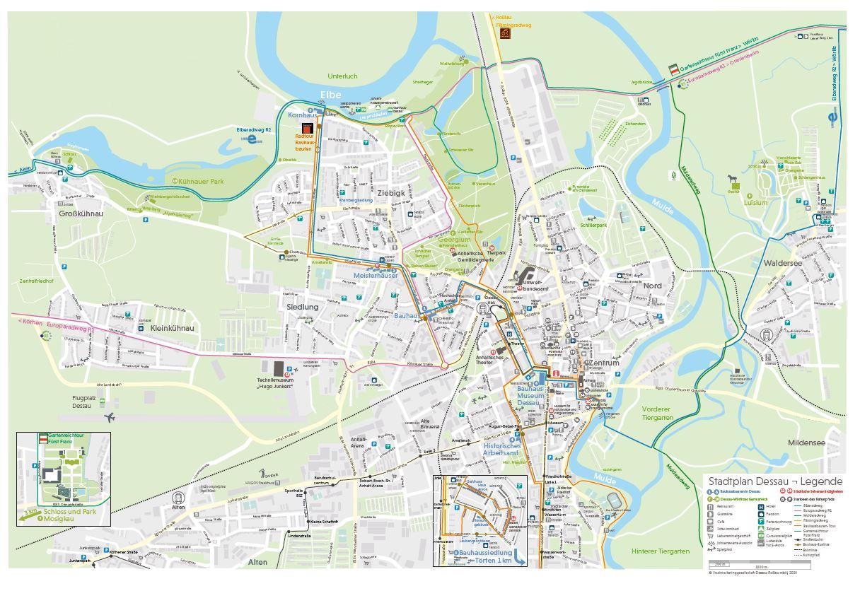 Stadtplan Dessau-Roßlau