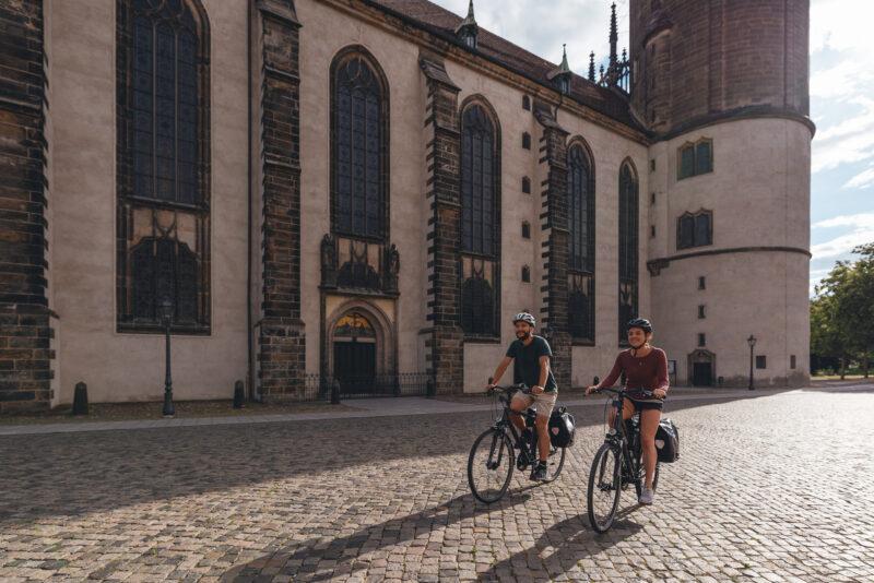 Radfahrer in Lutherstadt Wittenberg