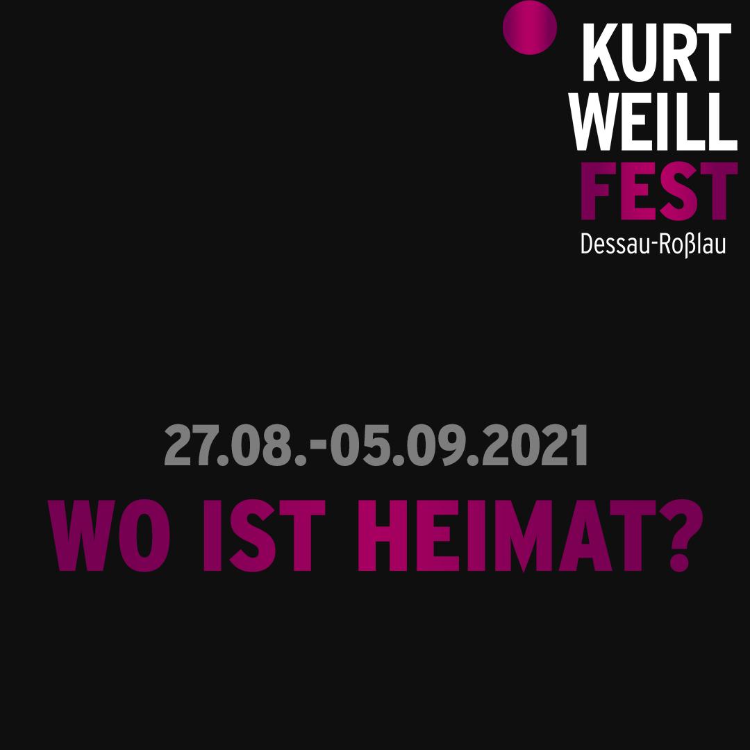 The Logo of the Kurt Weill Festival 2021