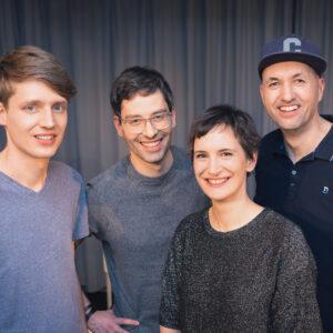 Die vier Musiker der Band Funkfeel