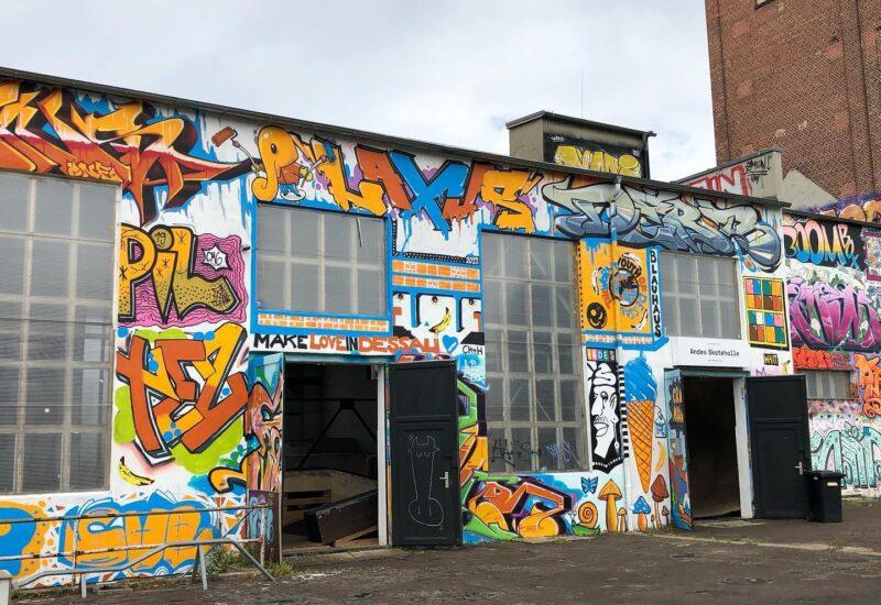 Andes Skatehalle Dessau Außenansicht
