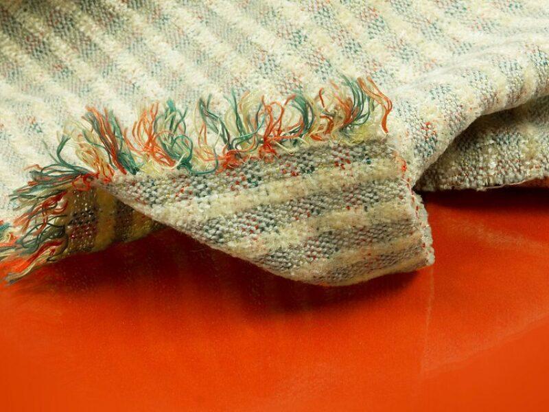 Scraps of cloth on the floor