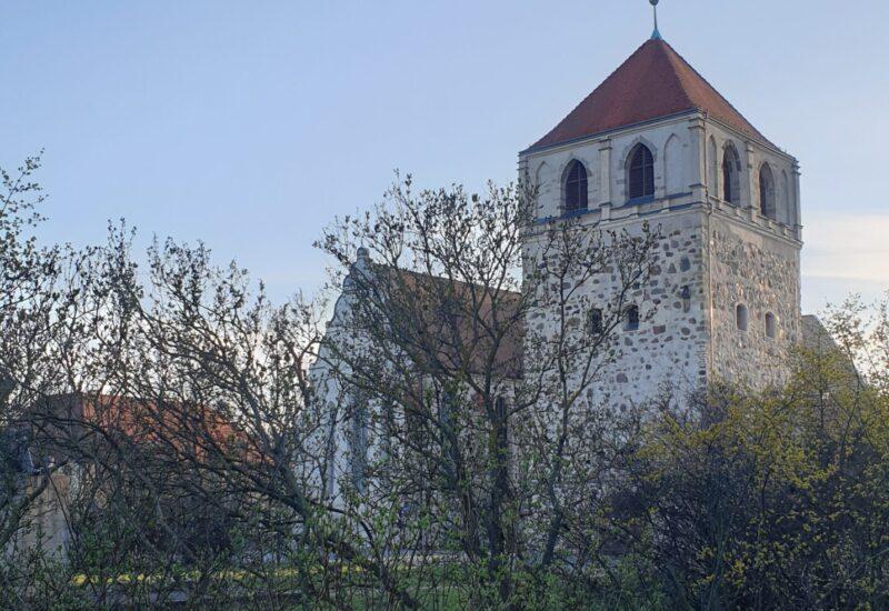 Stadt Zerbst mit Blick auf den Dicken Turm